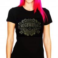 ¡SUPER OFERTA! Camiseta Chica Negra Highway 66 Revisited